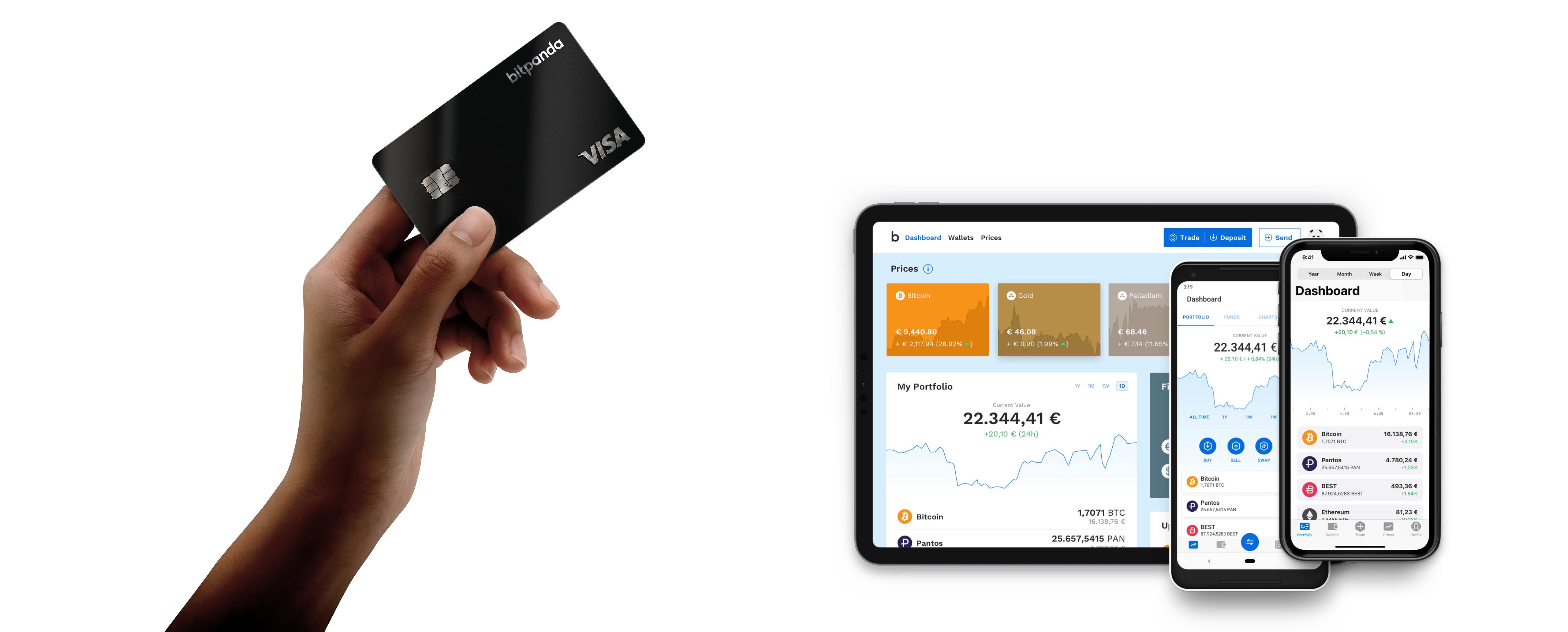 Kryptovaluuttapörssi Bitpanda avaa Visa-maksukortin ennakkotilaukset
